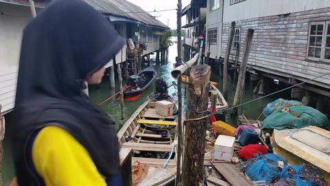 Thailand Fishing Village Panyee - Travel Holiday Footage