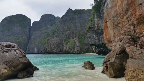 Asia Beach Maya Bay Koh Phi Phi tropical island - Thailand Tourism Footage