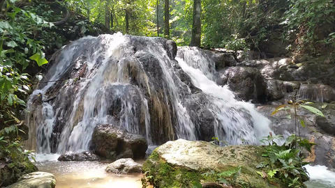 Waterfall in tropical Thailand Footage