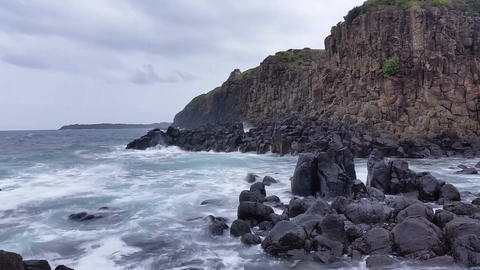 Moody Storm Waves Ocean Dreamy Seascape Footage