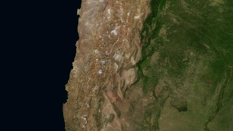 Andes of South America from Space Live Action