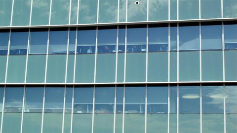Building establishing shot modern architecture office business exterior Footage