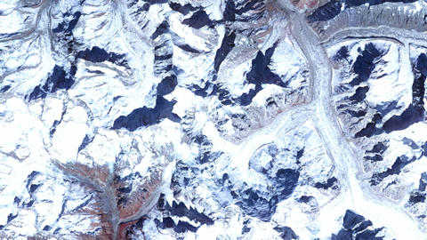 Glacier And Mountains From Space stock footage
