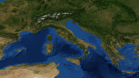 Italy from space slow - zoom Live Action
