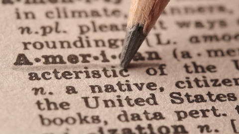 American - Fake dictionary definition of the word with pencil underline Live Action