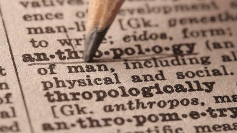 Antropology - Fake dictionary definition of the word with pencil underline Live Action