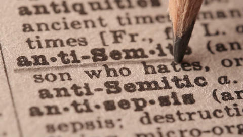Anti-semite - Fake dictionary definition of the word with pencil underline Live Action