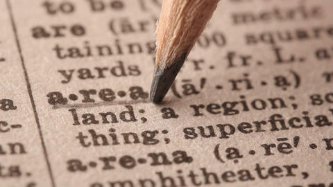 Area - Fake dictionary definition of the word with pencil underline Live Action
