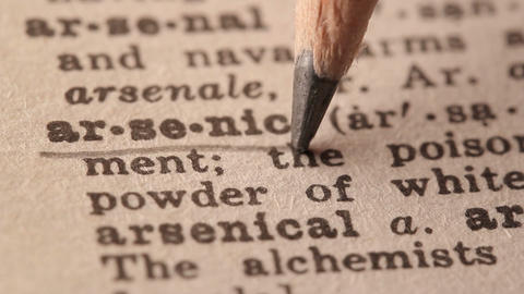 Arsenic - Fake dictionary definition of the word with pencil underline Live Action