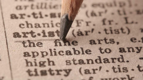 Artist - Fake dictionary definition of the word with pencil underline Live Action