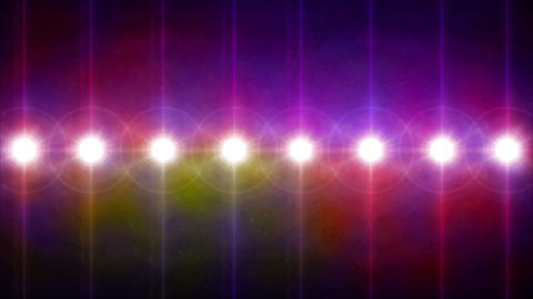 circle lens flares pattern turn on color 4k Animation