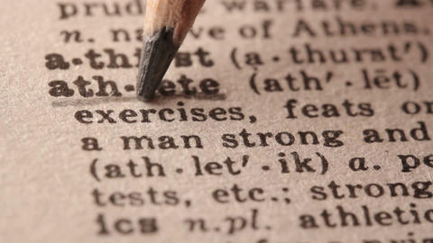 Athlete - Fake dictionary definition of the word with pencil underline Live Action