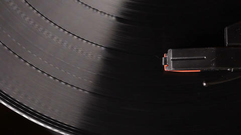 vintage vinyl record on record player turntable Footage