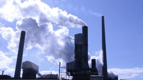 Industrial Chimney Smoke Stack Footage