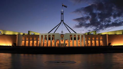 Canberra, Parliament House stock footage