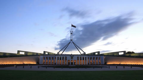 Canberra, Parliament House - Time Lapse stock footage