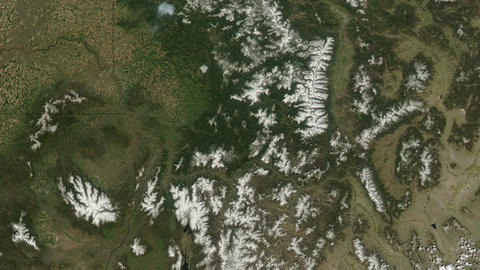 Rocky Mountains United States - USA - from space Live Action
