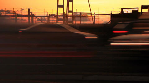 Rush Hour City Timelapse Traffic Commuter Congestion City Street Sunset Footage