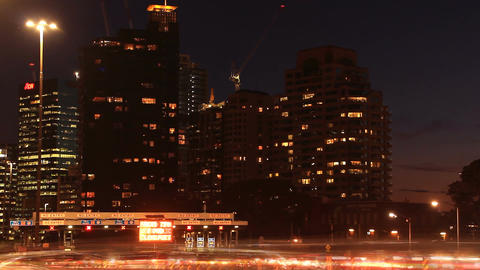 City Rush Hour Timelapse Traffic Congestion City Street Night Footage