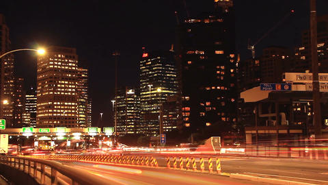 Rush Hour City Timelapse Traffic Commuter Congestion City Street Night Footage