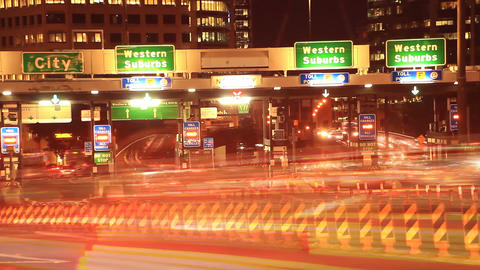 Vehicle Car Traffic Congestion City Street Night Traffic Rush Hour Time Lapse Footage