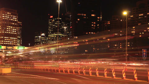 Commuter Traffic Congestion City Street Night Traffic Rush Hour Time Lapse estab Footage