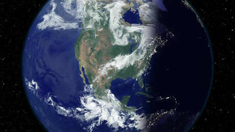 Earth - USA - United States of America - Day to Night Live Action