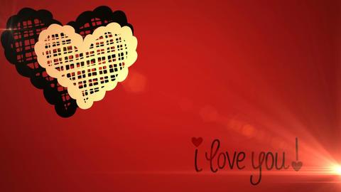 Valentine's Day Romantic Love Icon Animation Footage