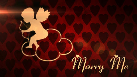 Marry Me Romantic Love Animation stock footage