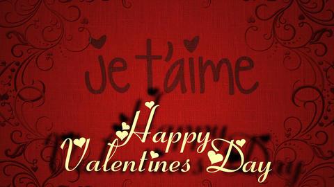 Valentine's Day Romantic Love Icon Animation Stock Video Footage