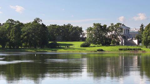 picturesque landscape park and palace Footage