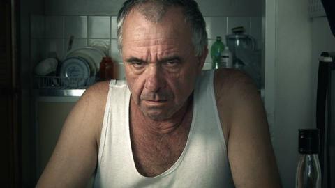 Prescription Pill Medication Drug Addiction Adult Male Man stock footage