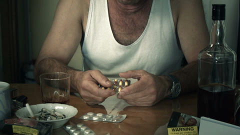 prescription pill medication drug addiction adult male man Live Action