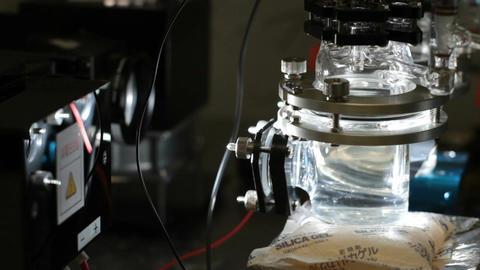 Hydrogen fuel cell alternative energy Footage