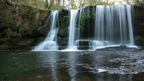 Nature Rainforest Waterfall - Slow Shutter Footage