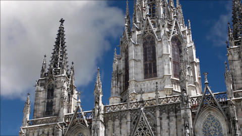 Gothic Cathedral in the blue sky Footage