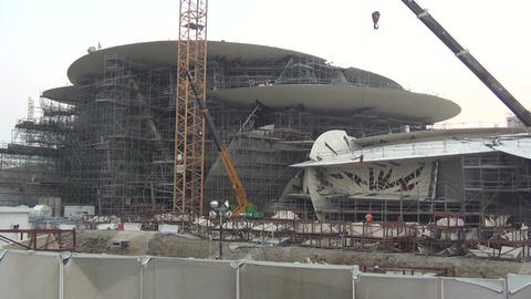 National Museum of Qatar under Construction Footage