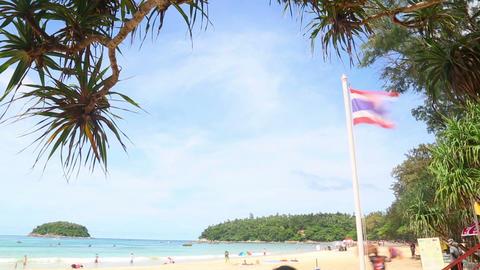 Tourists on Karon Beach Footage