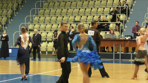 Competitions in sport dancing Footage