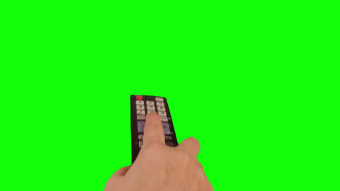 Surfing television channels green screen Footage