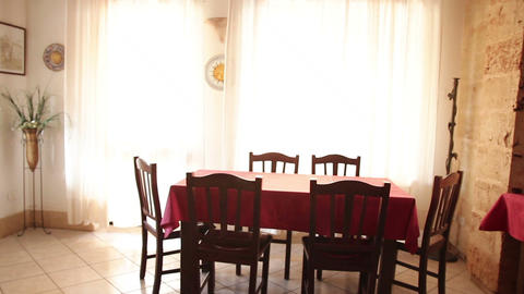 table and chairs in the dining room Live Action