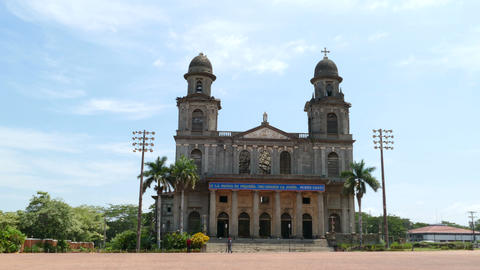 Santiago of Managua Cathedral Footage