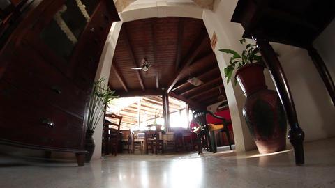 retro interior Tracking Stock Video Footage