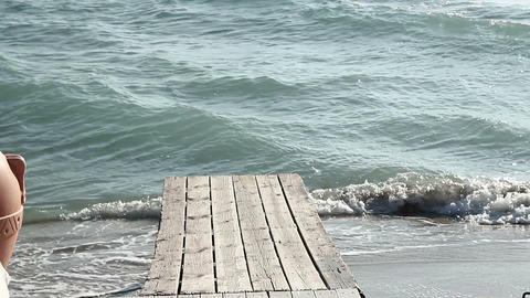 wooden pier in the sea Footage