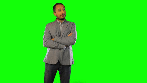 A man in a jacket is the idea of Green Screen Footage