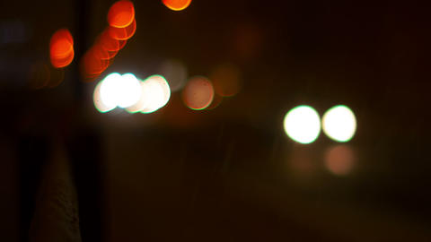 Blurred lights of the city Footage