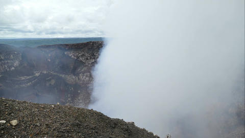 Looking in the crater of the Masaya vulcano, time lapse Footage
