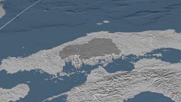 Hiroshima - Japan prefecture extruded. Bumps Animation