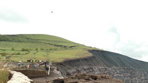 People watching at Masaya vulcano Footage