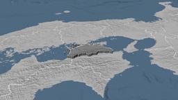 Kagawa - Japan prefecture extruded. Bumps Animation